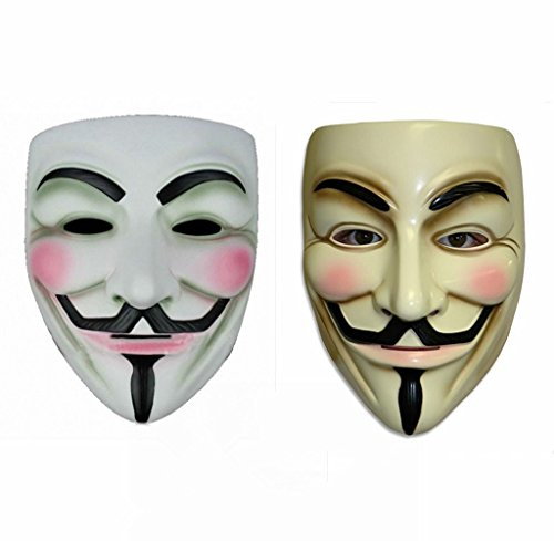 2PCS SPOD® V for Vendetta Movie Anonymous Guy Fawkes Face Mask