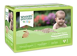 Seventh Generation Free and Clear Baby Diapers, Stage 1