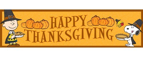 "Eureka Peanuts Happy Thanksgiving Classroom 12"" x 45"" Banner"