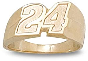 Logoart Jeff Gordon 10K Number Ring, Size 6 by Logo Art
