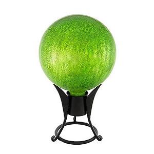 Achla Designs 12-Inch Crackle Gazing Globe, Fern Green