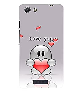 Fuson 3D Printed Valentines Designer Back Case Cover for Micromax Unite 3 Q372 - D1095