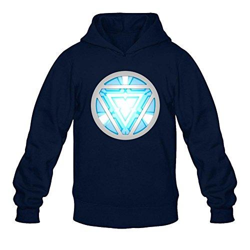 FUSHUO Men's Lightup Arc Reactor Led Iron Man Hoodies Sweatshirt