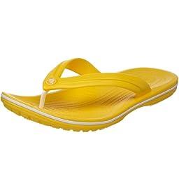 crocs Unisex Crocband Flip-Flop,Yellow,10 B(M) US Women / 8 D(M) US Men