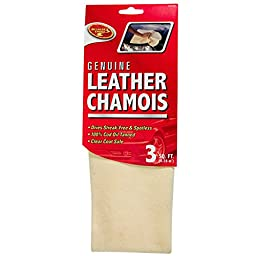 Detailer\'s Choice 10X02300 Genuine Leather Chamois - 3-Square/Feet - 1-Each