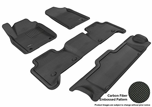 Kagu Rubber Black 3D MAXpider Front Row Custom Fit All-Weather Floor Mat for Select Buick Encore Models