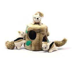 Kyjen PP01056 Hide-A-Squirrel Squeak Toy Dog Toys 4-Piece,...