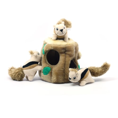 Kyjen PP01056 Hide-A-Squirrel Squeak Toy Dog