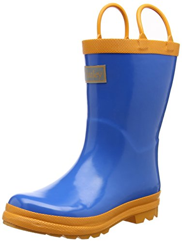 Hatley Little Boys Royal Orange Rain Boots, Blue, 6