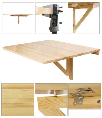 Wall mounted drop leaf table folding dining desk solid - Wall mounted folding table ...