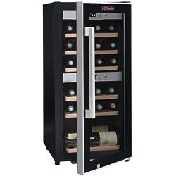 La Sommeliere ECS25.2Z 2-Zone Deluxe Wine Cellar with 24B Compressor and Full Glass Door
