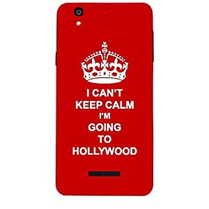 Skin4gadgets I CAN'T KEEP CALM I'm GOING TO HOLLYWOOD - Colour - Red Phone Skin for MICROMAX YUREKA