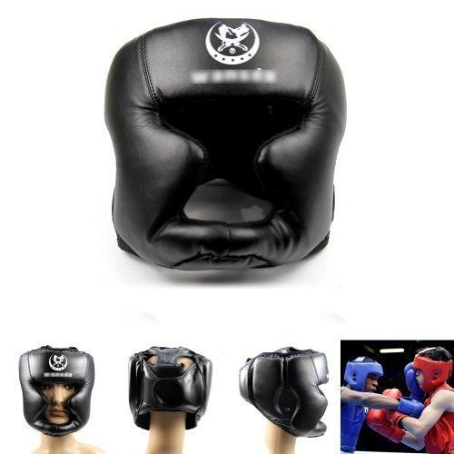 estone-black-new-good-headgear-head-guard-trainning-helmet-kick-boxing-pretection-gear-by-estone
