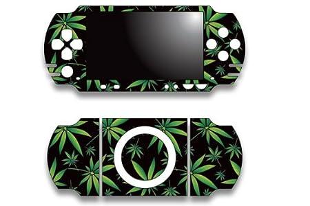 Sony PSP Slim Skin Decal Sticker - Weeds Black