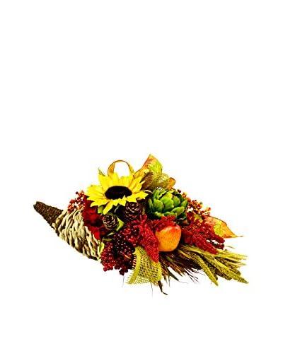 Creative Displays Fall Cornucopia, Red/Yellow/Orange/Green
