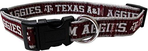 Pets First Collegiate Texas A&M Aggies Pet Collar, Medium