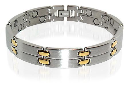 New Mens Stainless Steel Magnetic Power Bracelet 8.5