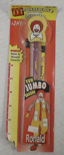 Mcdonalds Ronald Mcdonald Pencil & Eraser Set