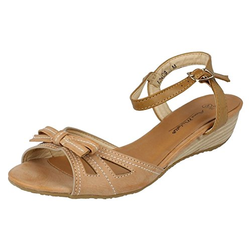 Anne Michelle L3409, Sandali donna, Marrone (Nude/Tan), 38.5