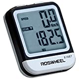 Jyacam 20 Functional LCD Wired Bike Bicycle Cycling Computer Odometer Speedometer Stopwatch Waterproof with Night Light (Black and White)