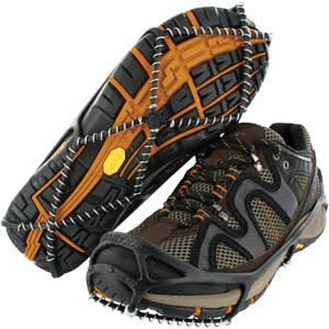 Yaktrax Walker Traction Cleats for Snow and Ice, Black, Medium