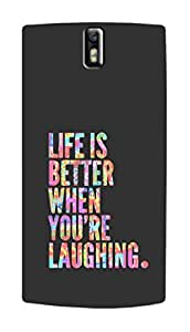 SWAG my CASE PRINTED BACK COVER FOR ONE PLUS ONE Multicolor