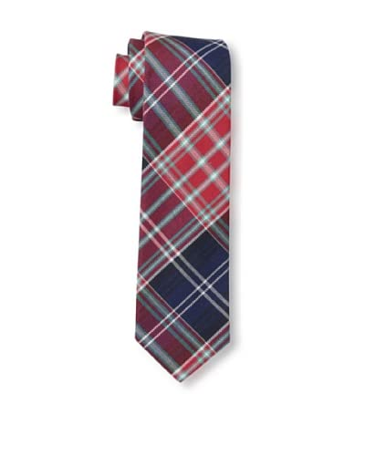Gitman Vintage Men's Multi Plaid Oxford Tie, Red
