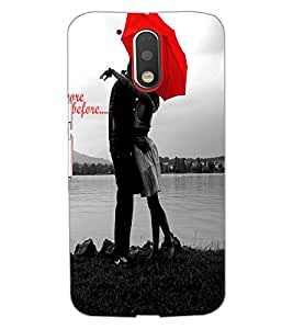 MOTOROLA MOTO G4 PLUS LOVE COUPLE Back Cover by PRINTSWAG