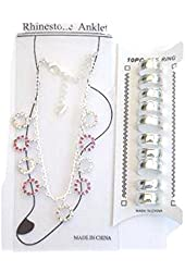 Genuine Sterling Silver Plated Anklet and Toe Rings for Girls and Teens