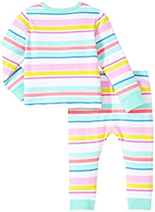 kate spade york Baby Girls Live Colorfully Two Piece Set, Cape Stripe