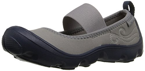Crocs Duet Busy day PS, Mädchen Mary Jane Halbschuhe, Blau (Navy/Light Grey 41S), 23/24 EU