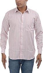 Major Sab Men's Casual Shirt MS7129L2_Orange_XXL