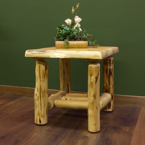 Cheap Cedar Lake Log End Table (LM-CLET-config)