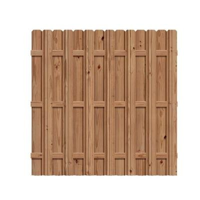 6 ft. H x 6 ft. W Pressure-Treated Cedar-Tone Moulded Multi Style Fence Kit (Wooden Fence Panels compare prices)