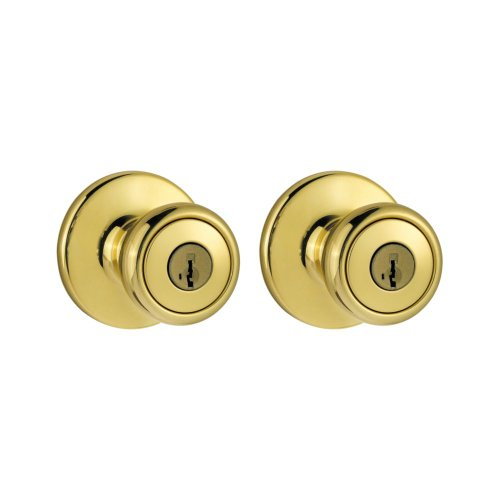 Kwikset 243T 3 Cp Single Cylinder Project Pack With Tylo Knob In Polished Brass front-461346