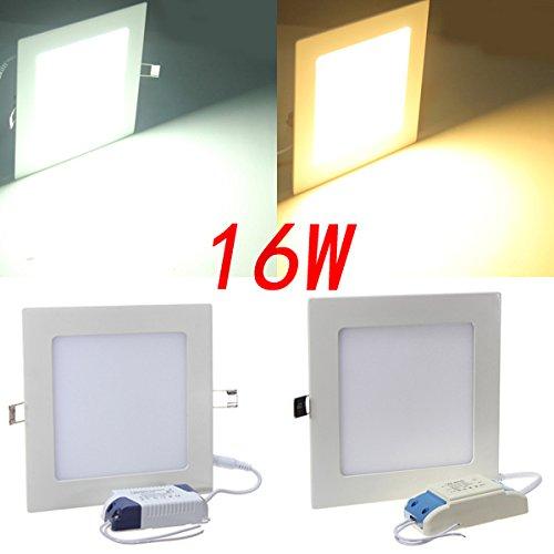 Square 16W White/Warm White Panel Led Ceiling Downlight Lamp 85-265V