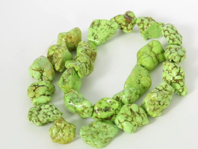 Large Freeform Green Turquoise Loose Beads Gemstone