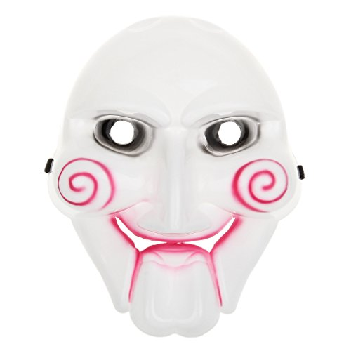 Scary Saw Billy Mask of PVC Material for Halloween Masquerade Parties