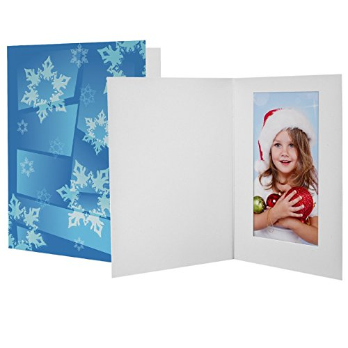 4x6 Winter Snowflake Photo Folders - 100 Pack (Snowflake Picture Frame compare prices)