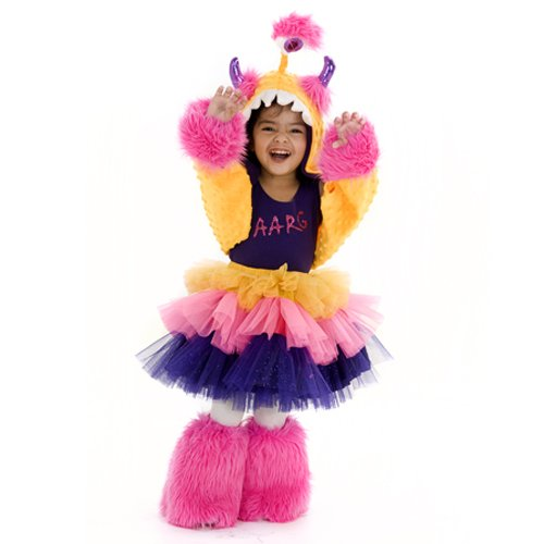 Yellow Purple Aarg MonStar Infant Toddler Girls 4pc Halloween Costume Set