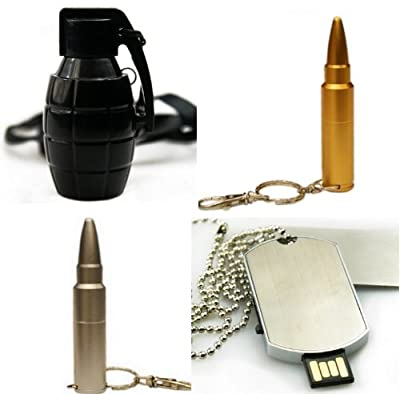 Set of 4 Military Flash Drives - USB Memory Sticks 2GB - School/Novelty/Gift from Memory Mates