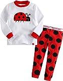 Vaenait Baby 1-7 Years Girls Longsleeve Pyjama Sleepwear Set Ladybug S