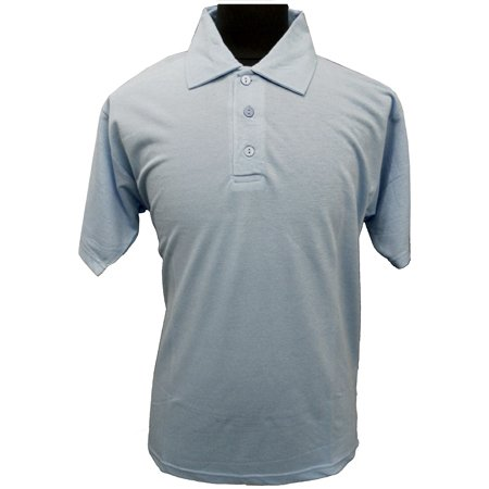 NewModel Mens Plain Polo Shirt Jersey T Shirt T-Shirt 3 Colours White Sky Blue Cream From Small To Extra Large (Large, Sky Blue)