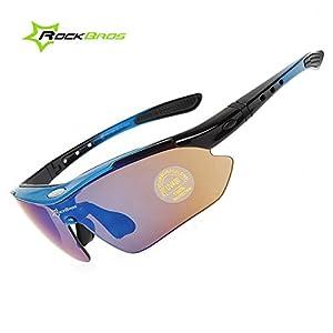 ROCKBROS Bike Polarisierte Fahrradbrillen Radfahren Sportbrillen Sonnenbrillen Goggles Sunglasses CS012