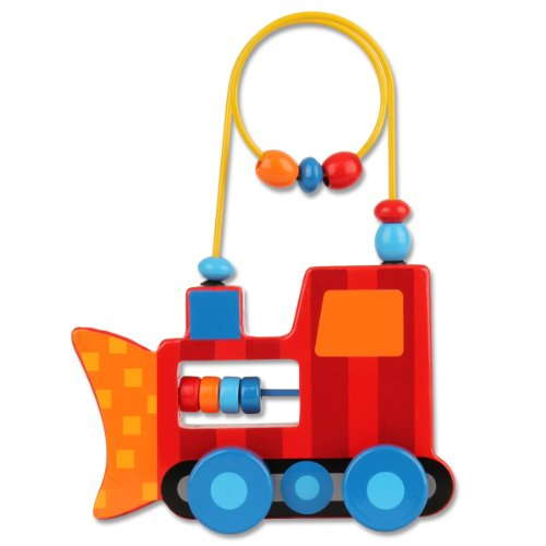 Stephen Joseph Construction Rolling Wire and Bead Toy