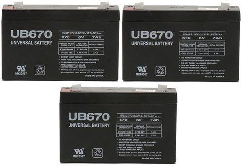 Lithonia Elb0607 Replacement Rhino Battery - 3 Pack