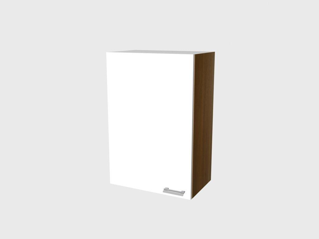 Hoch Hängeschrank Como 60x89 cm glänzend weiss Nussbaum Dekor    Kundenbewertungen