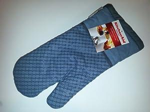 Kitchenaid oven mitt with textured silicone silver kitchen home - Kitchenaid oven gloves ...