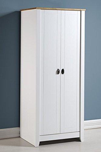 Ludlow 2puerta armario en color blanco/roble