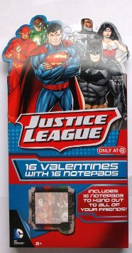 Justice League Valentine Cards